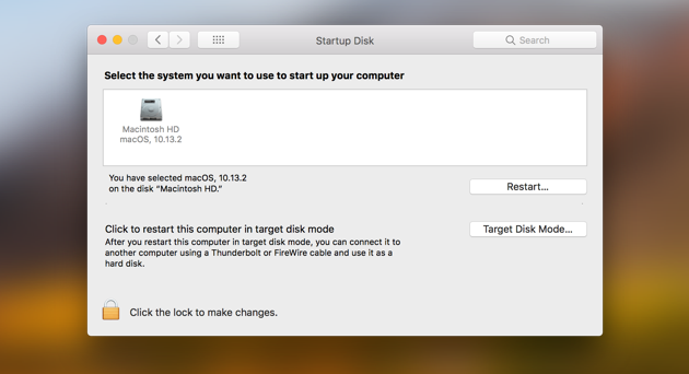 Startup disk