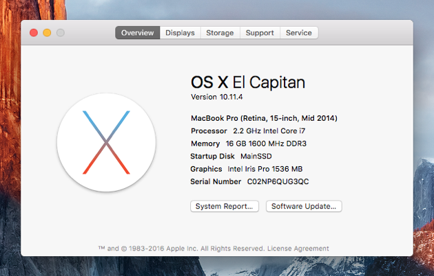 Startup Disk Full | Check OS X version number