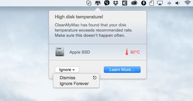 Smart health alert: High disk temperature