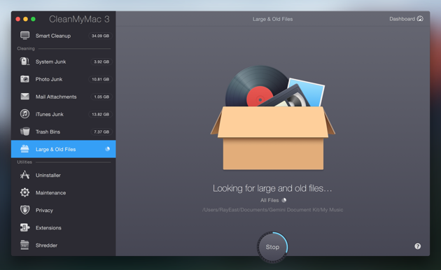 Scan your Mac to find useless files and free up space