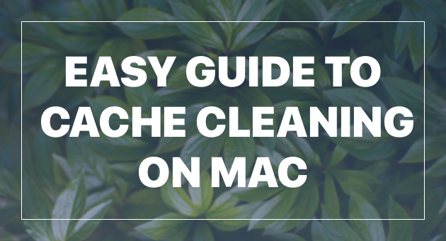 How to get rid of Cache Files on a Mac