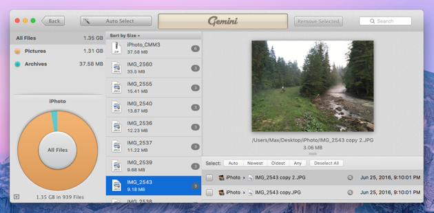 Clean up duplicates from your iPhoto library