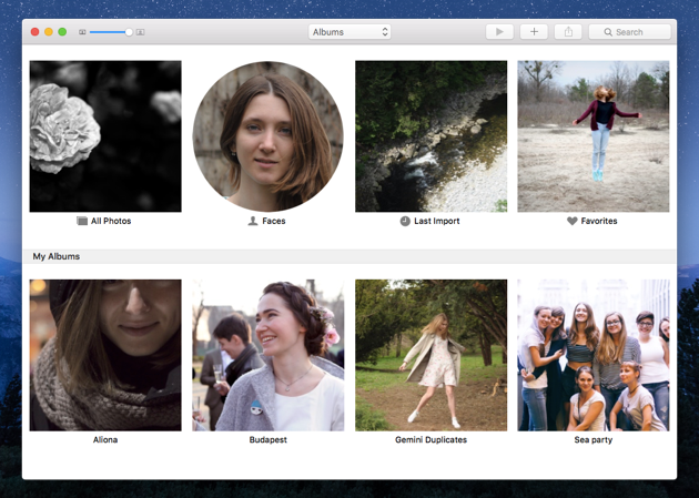 How to group images in Photos