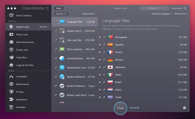 Pre-installed Language packs