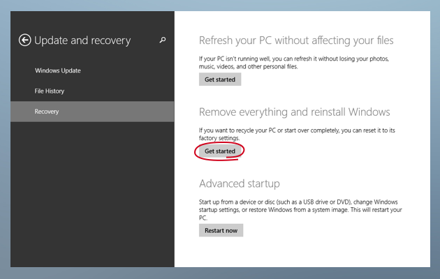 Remove everything and reinstall Windows