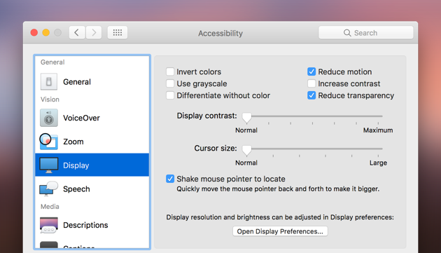 how to turn the display off but keep mac running