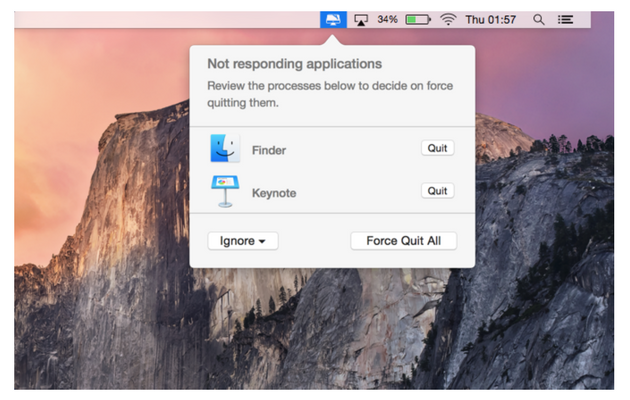 CleanMyMac menu