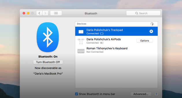 bluetooth not available mac 2019
