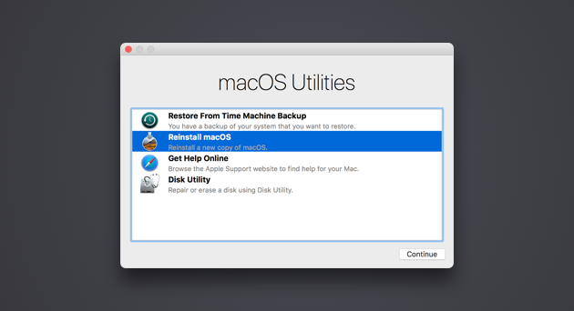 recovery-mode-mac macOS Utilities