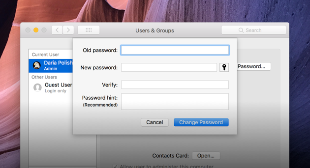 How can i reset my apple administrator password