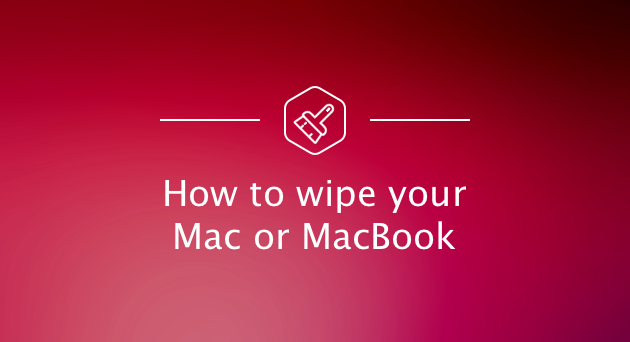 wipe macbook