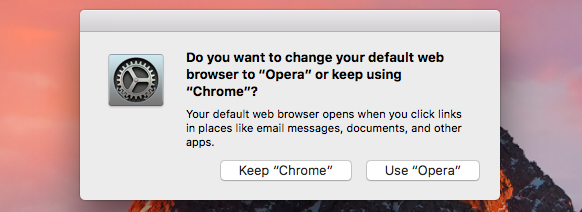 How to change the default web browser on Mac?