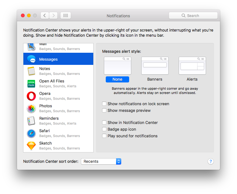 How to turn off iMessage & stop messages from showing on Mac