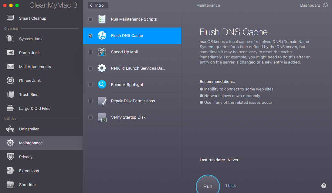 How to flush your dns cache on mac to flush the dns cache with cleanmymac first youll need to download it you can do that here for free ccuart Choice Image