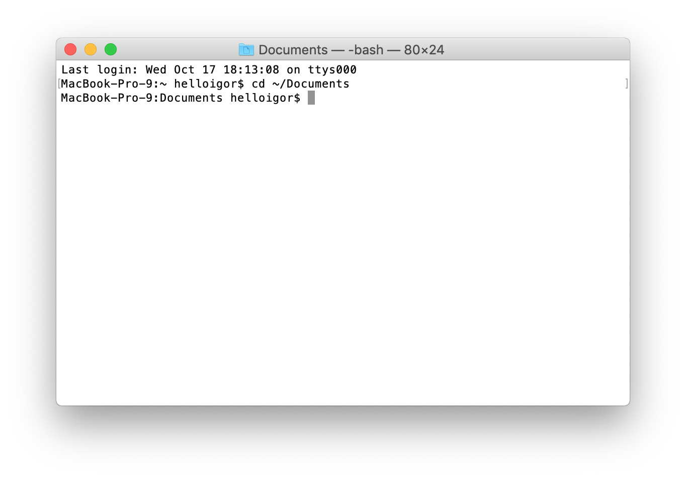 mac os x terminal write to file