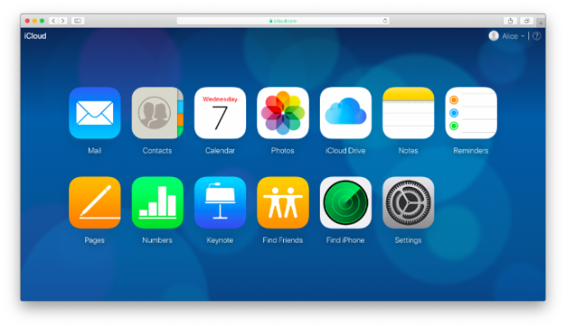 Screenshot: iCloud, the native cloud photo storage for Apple users