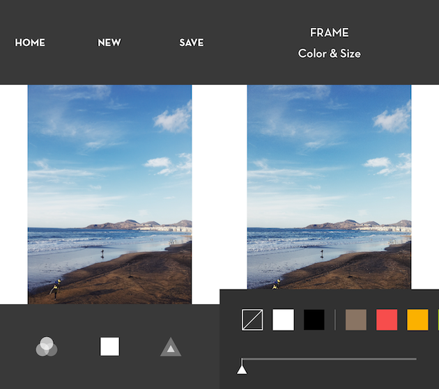 How to add white borders to a photo using Whitagram