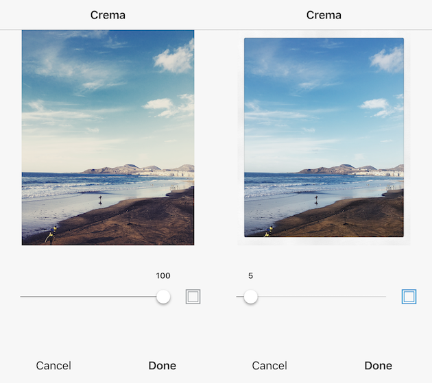 How to add a white border to a photo with Instagram