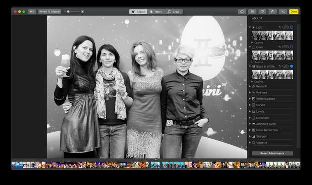 Editing a photo with macOS Photos app: Screenshot