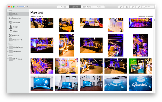 Screenshot of Mac's Photos app