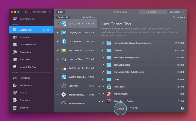 Free Up Other storage on Mac with CleanMyMac
