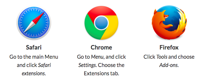 Removing browser extensions