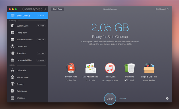 CleanMyMac Smart Cleanup