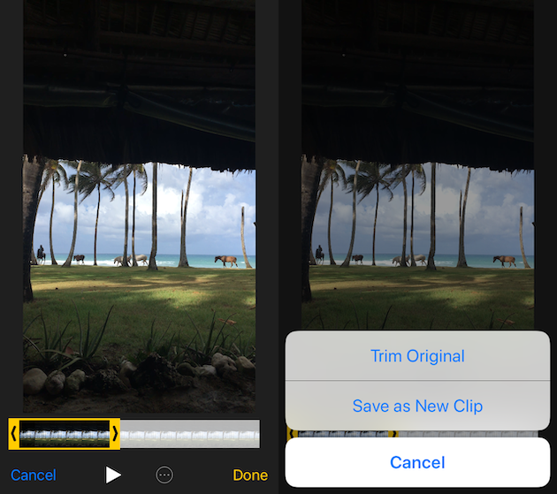 How to cut an iPhone video into two parts