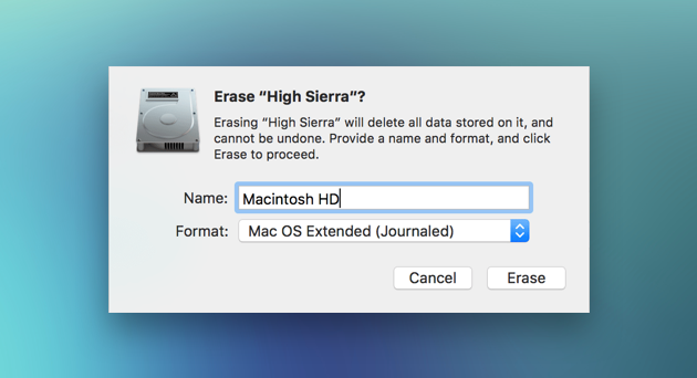 Erase macOS High Sierra on your Mac