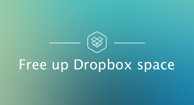 Free up dropbox space