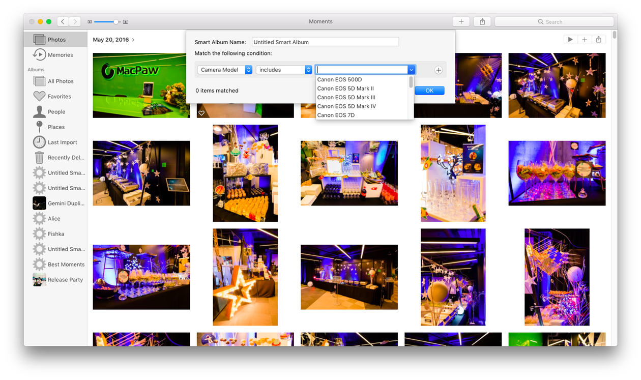 Removing duplicates from the Photos app for Mac