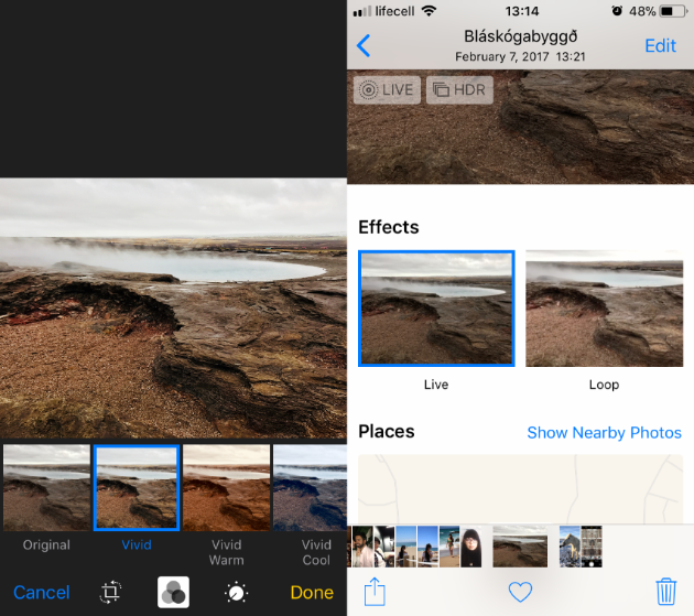 How to edit Live Photos on iPhone: screenshots