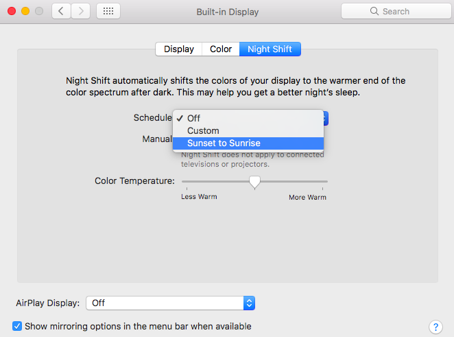 How to enable Night Shift mode on your Mac