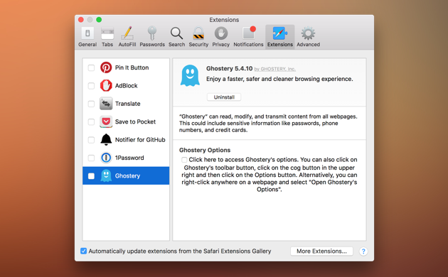 Here are the ad blocker extensions for OS X El Capitan