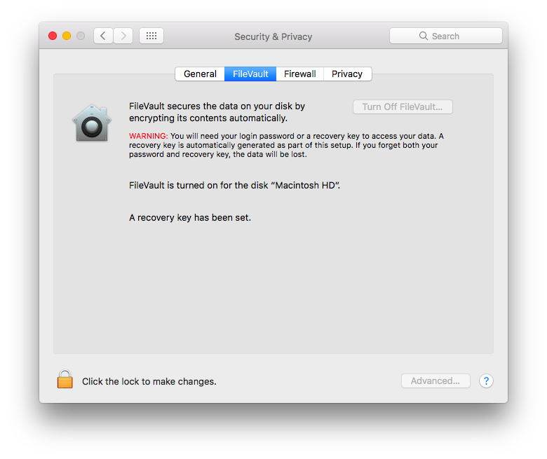 How and Why to use FileVault Disk Encryption on Mac