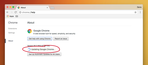 Keep Chrome updated to get rid of annoying crashes