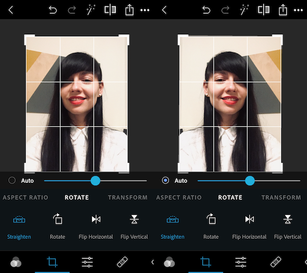 How to flip a selfie photo on iPhone