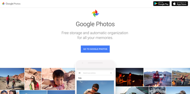 Screenshot of Google Photos, a top photo sharing app and website