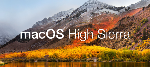 Meet the new macOS High Sierra 10.13