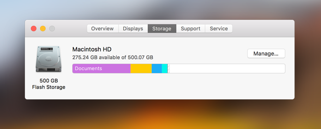 clearing memory space on mac