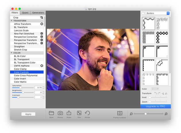 Screenshot of Image Tricks Lite, a free Mac picture editor