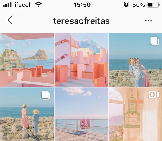 An example of an Instagram theme