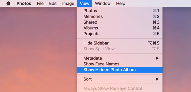 How to hide and unhide photo album manually