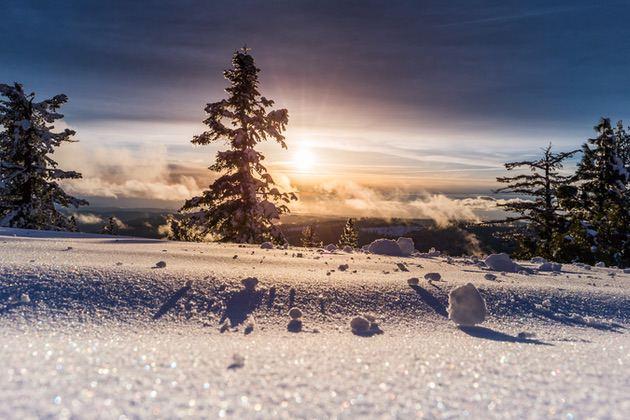 Landscape photography: A snowy landscape