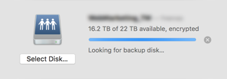 Time Machine stuck on backup High Sierra