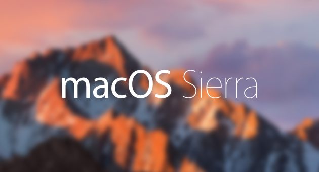 macOS Sierra details and features