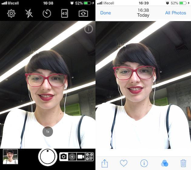 How to take a mirrored selfie on iPhone