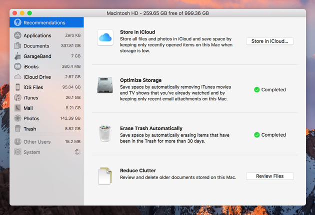 how to run disk cleanup on mac