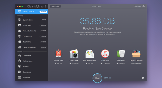 How to cleanup disk space with CleanMyMac