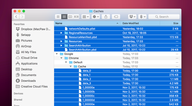 MacBook running slow - clear caches